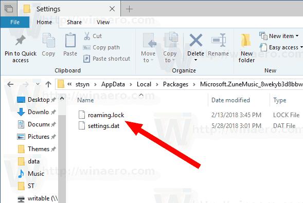 Groove Music Settings Windows 10