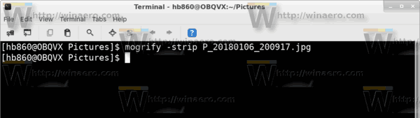 Linux Remove Exif Cmd