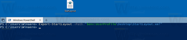 Windows 10 Export Start Menu Layout