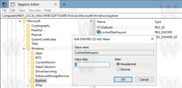 Windows 10 Locked Start Menu Layout