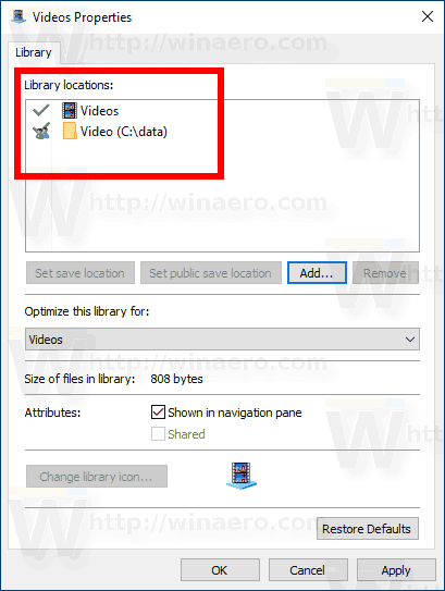 Windows 10 Folder Added To Library