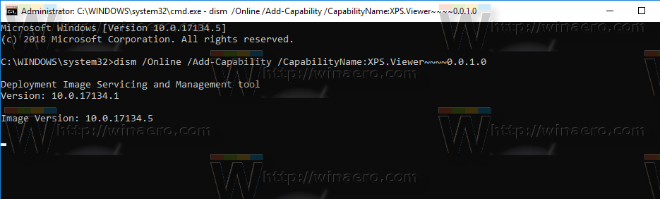 Windows 10 Install XPS Viewer With Dism