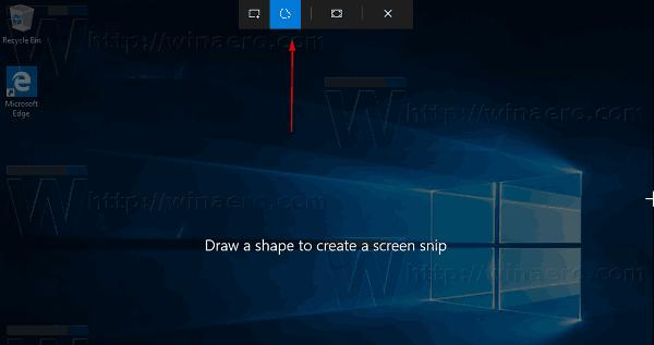 Windows 10 Screen Snip Toolbar