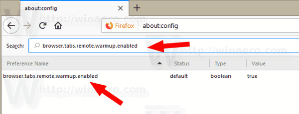 Firefox About Config Tab Warming