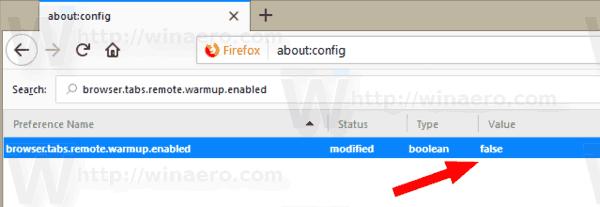 Firefox Disable Tab Warming
