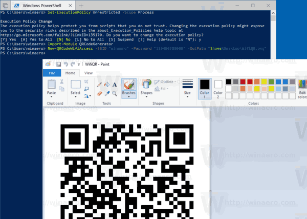 Generate QR Code With PowerShell In Windows 10