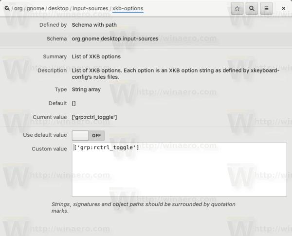 Gnome 3 Set Single Key Shortcut To Change Keyboard Layout