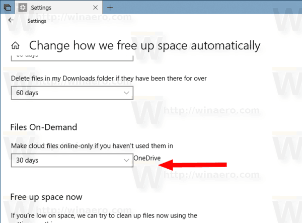 Make OneDrive Files On Demand Online Only