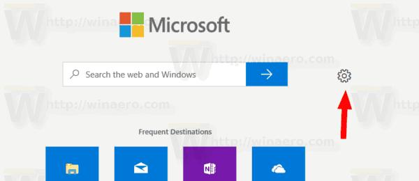 New Tab Page Settings Settings Icon