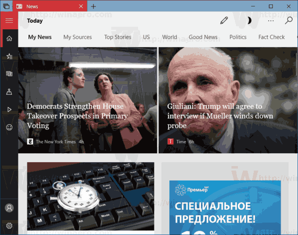 News App Windows 10
