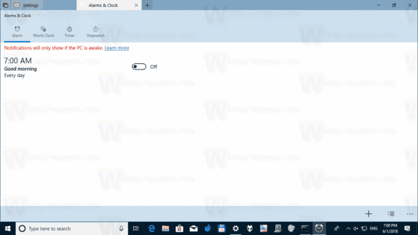 Change Sets New Tab Page Options in Windows 10
