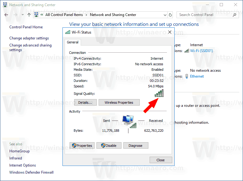 View Wireless Network Signal Strength Windows 10 Img6