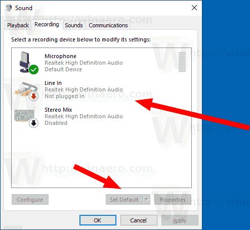 Windows 10 Change Default Sound Input Device 2