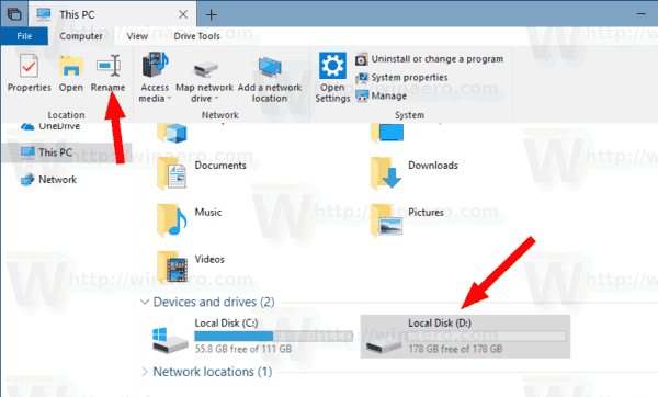 Windows 10 Change Drive Label This PC 1