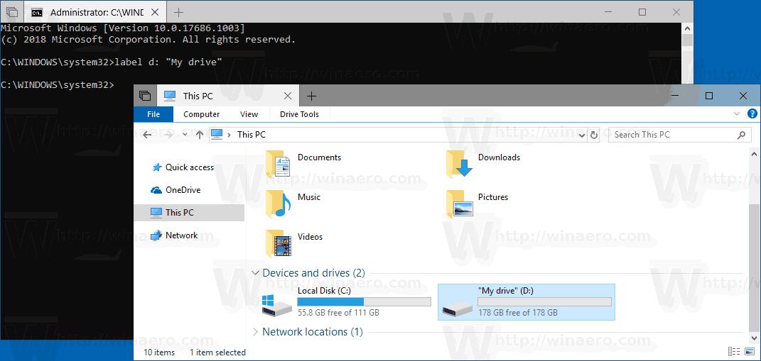 Windows 10 Change Drive Label Cmd