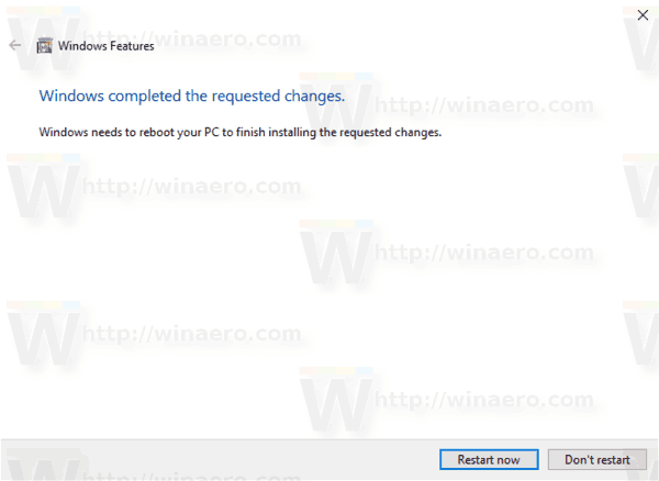 Windows 10 Enable SMB1 Restart Prompt