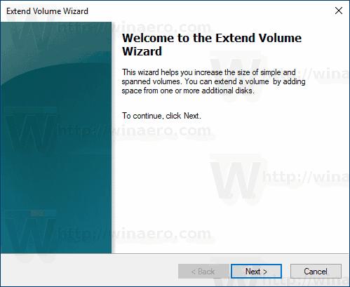 Windows 10 Extend Partition Wizard
