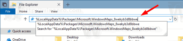 Windows 10 Maps App Folder