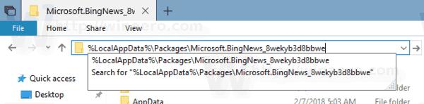Windows 10 News App Folder