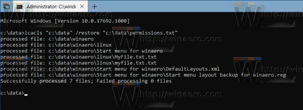 Windows 10 Restore Permissions