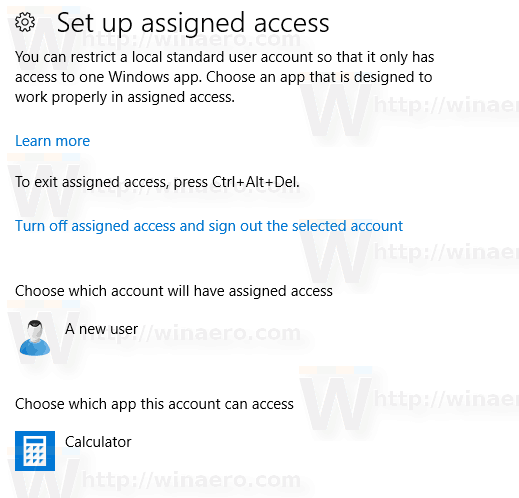 Windows 10 Setup Assigned Access Is Now Configured