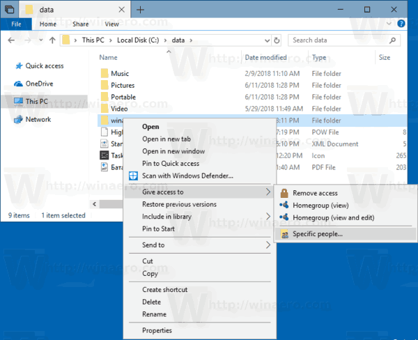 Windows 10 Share A Folder Give Access To 1