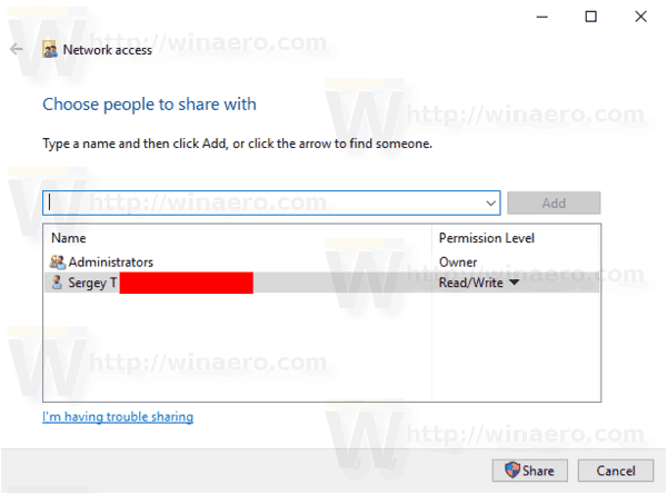 How to Share File or Folder in Windows 10