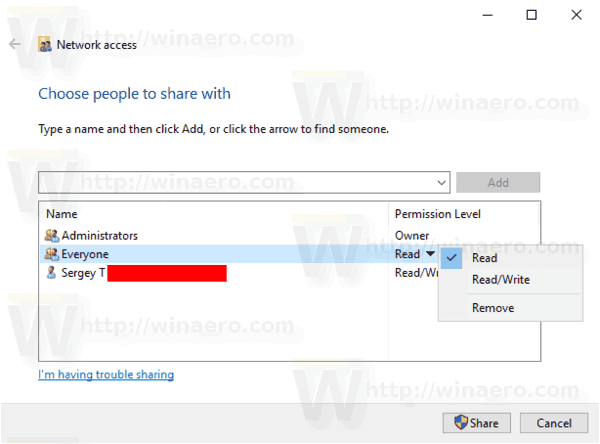 Windows 10 Share A Folder Give Access To 4