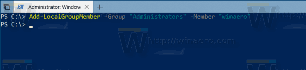 Windows 10 Add Localgroupmember