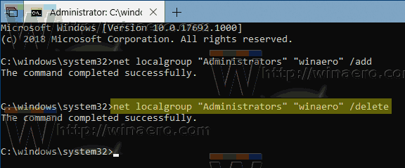 Windows 10 Net Localgroup Delete