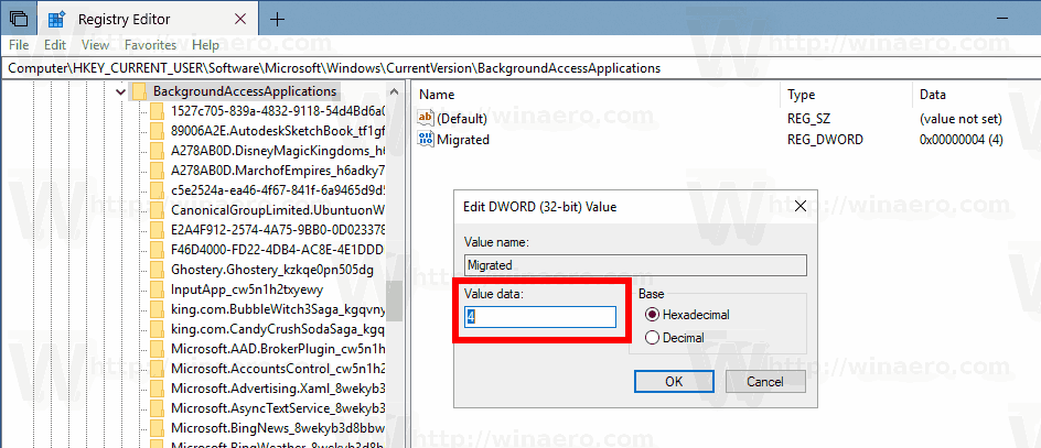 Windows 10 Version 1803 Disable Background Apps