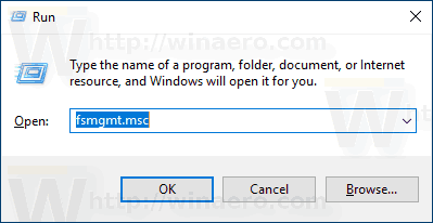 Windows Run Fsmgmt Msc