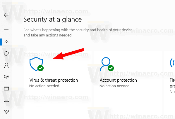 Windows Security Virus And Threat Protection Icon