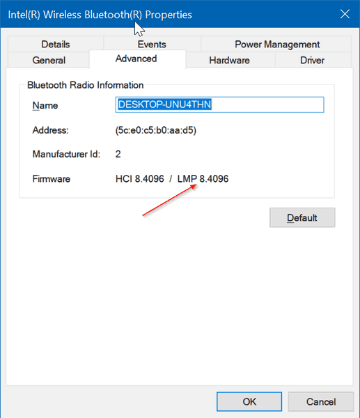 Check Bluetooth Version In Windows 10