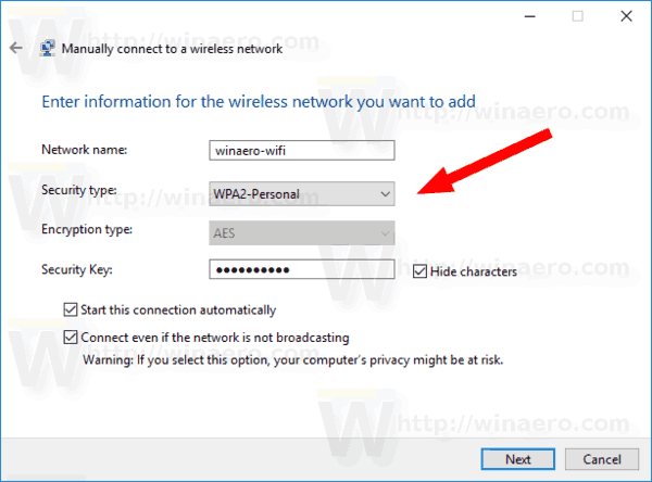 Control Panel Add A Network Connection Manually
