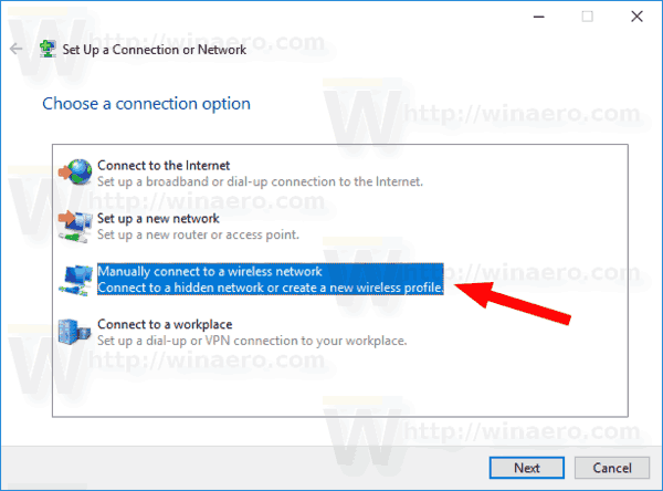 Control Panel Manually Connect To A Network