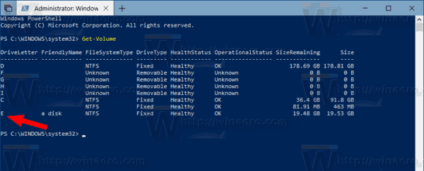 Get Volume PowerShell