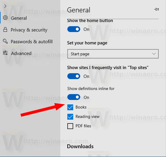 Edge Disable Definitions