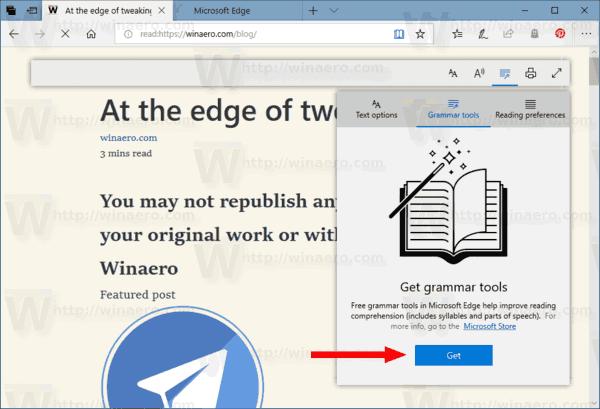 Edge Get Grammar Tools