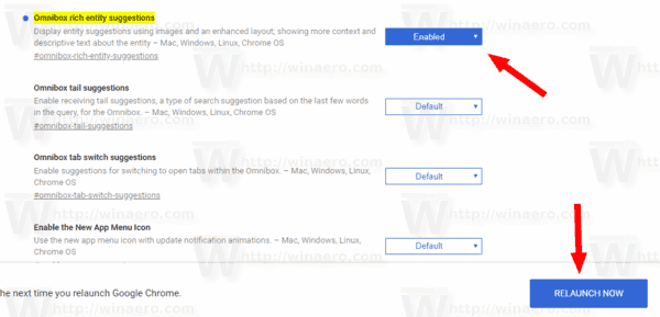 Google Chrome Enable Rich Search Suggestions