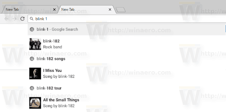 Google Chrome Rich Search Suggestions