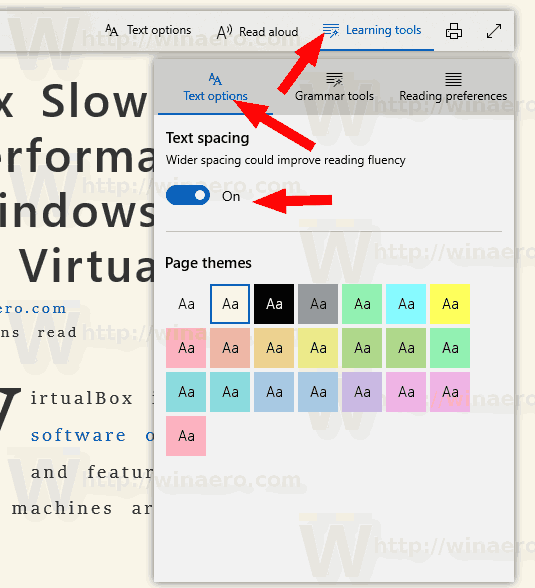Microsoft Edge Change Text Spacing In Reading View