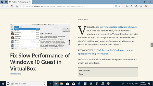 Microsoft Edge Normal Text Spacing