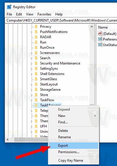 Windows 10 Backup Task Manager Settings 2