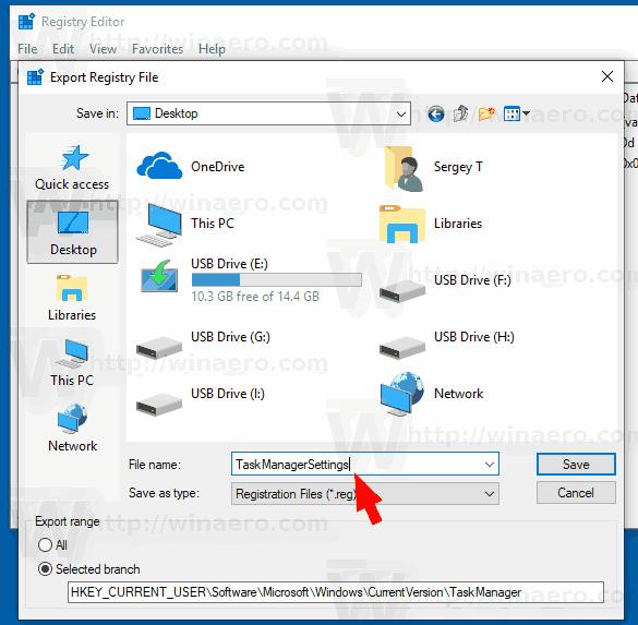 Windows 10 Backup Task Manager Settings 3