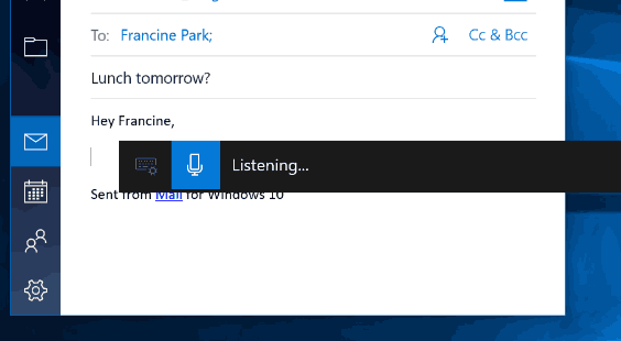 Windows 10 Dictation Toolbar