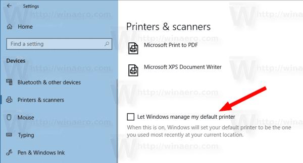 Windows 10 Disable Printer Management