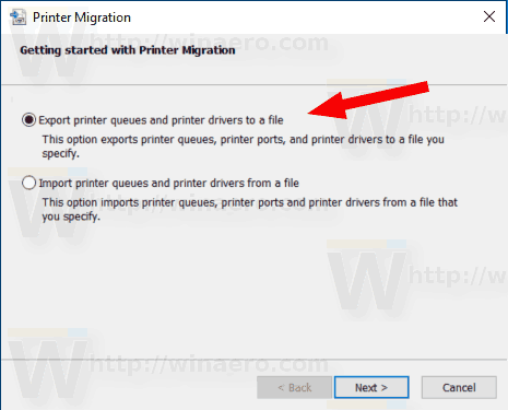 Windows 10 Export Printer Queues And Printer Drivers To A File