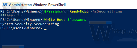 Windows 10 PowerShell Create A Password