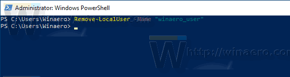 Windows 10 PowerShell Remove A User Account